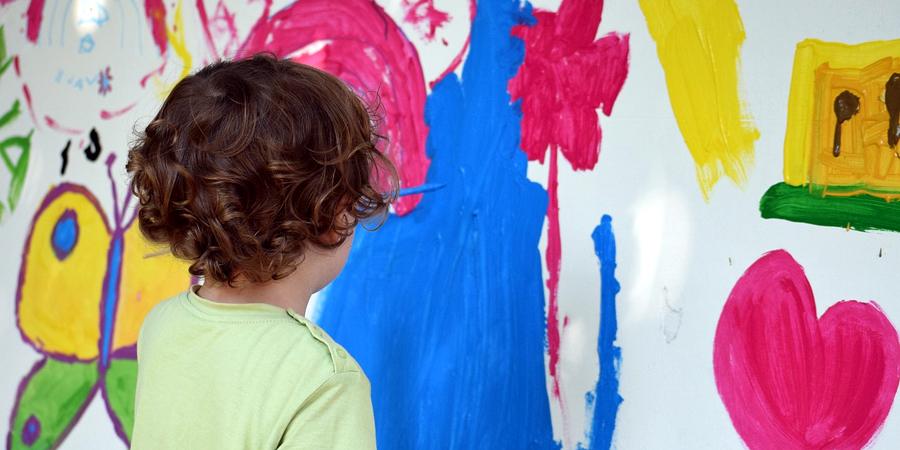 Afición a la pintura desde niños