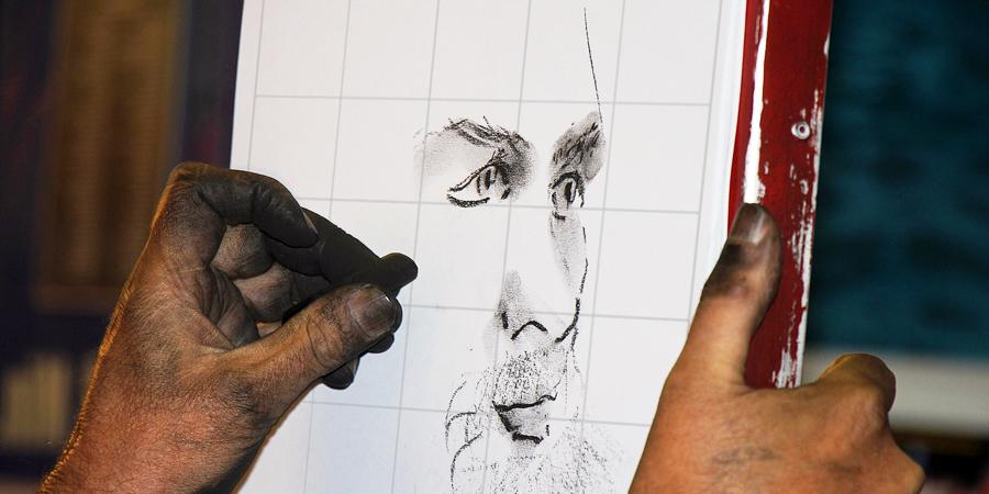 Pintar retrato con cuadrícula